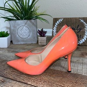 Manolo Blahnik Pumps Coral Pointed Toe Patent